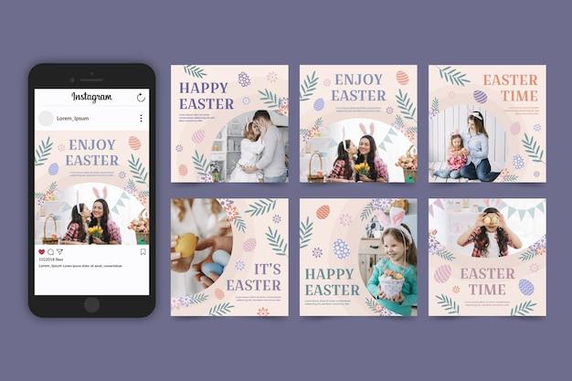 Pack de messages instagram de pâques