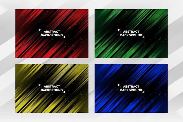 Pack de modèle de fond de bande abstraite