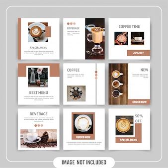 Pack de modèles de bannière de médias sociaux minimal