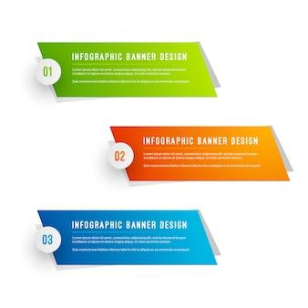 Pack de modèles de bannières infographiques