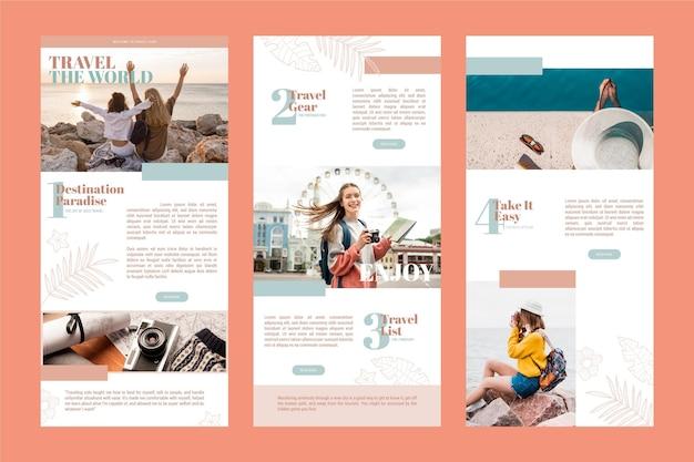 Pack de modèles d'e-mails de blogging
