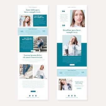 Pack de modèles d'e-mails de blogueur créatif