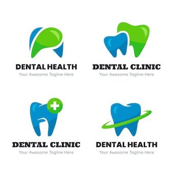 Pack de modèles de logo dentaire plat