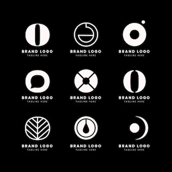Pack de modèles de logo design plat o