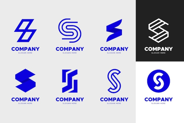 Pack de modèles de logo design plat