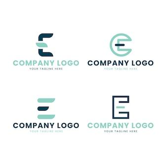 Pack de modèles de logo e design plat