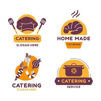 Pack de modèles de logo de restauration à plat