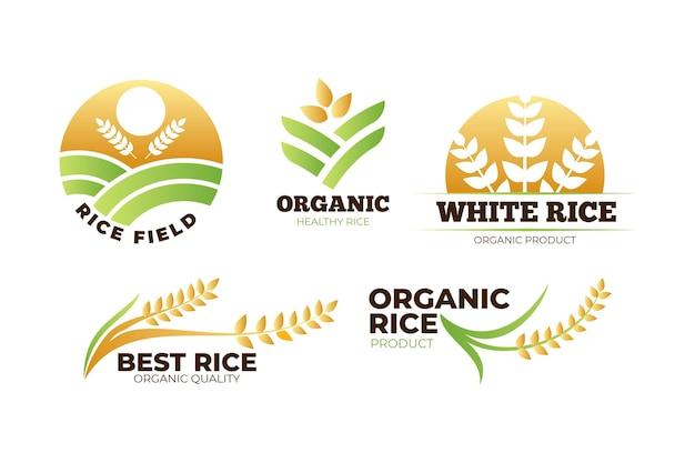 Pack de modèles de logo de riz