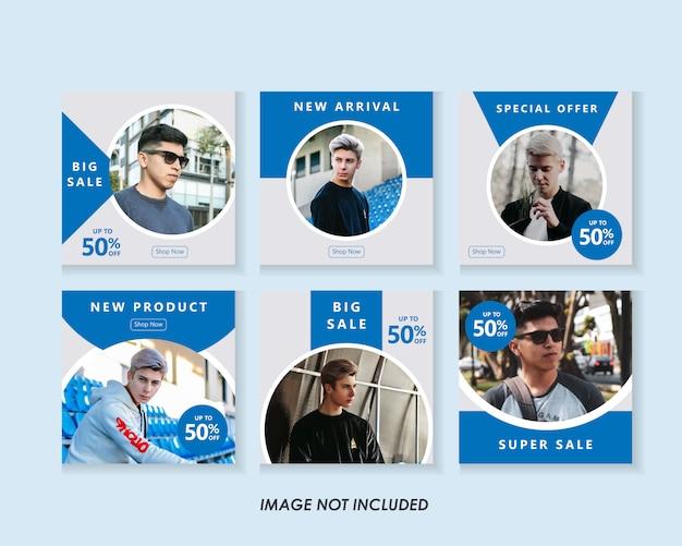 Pack de modèles de publication de médias sociaux de mode