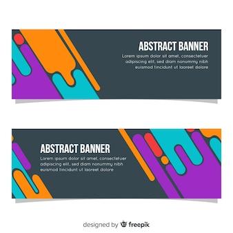 Pack moderne de bannières abstraites au design plat