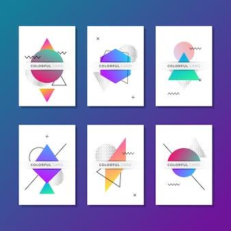 Pack moderne de six cartes géométriques