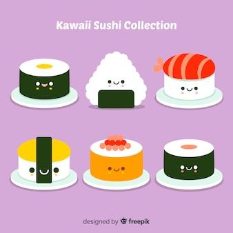 Pack de morceaux de sushi kawaii