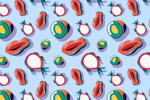 Pack motif fruits