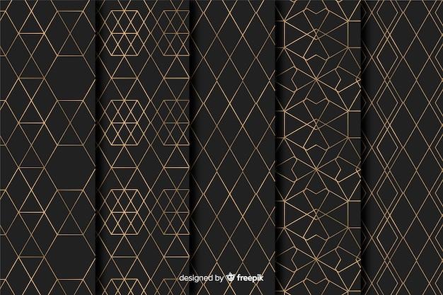 Pack motif géométrique de luxe