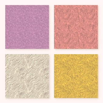 Pack de motifs abstraits de lignes arrondies