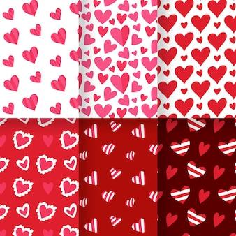 Pack de motifs coeur dessinés à la main