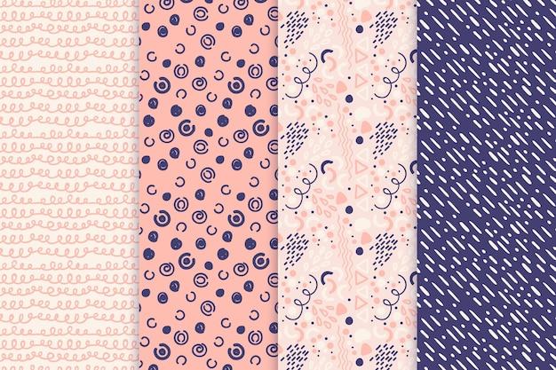 Pack de motifs dessinés à la main abstraite