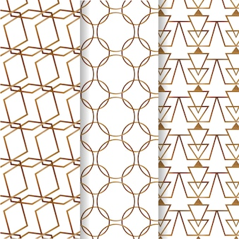 Pack de motifs de luxe géométriques