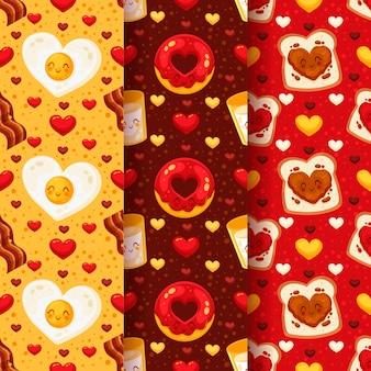 Pack de motifs plats de la Saint-Valentin