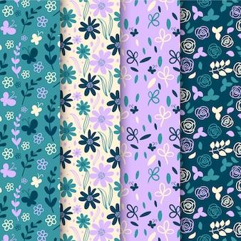 Pack de motifs de printemps dessinés à la main