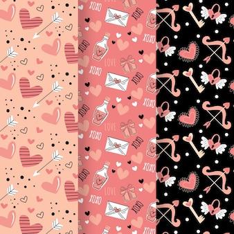 Pack de motifs de la saint-valentin