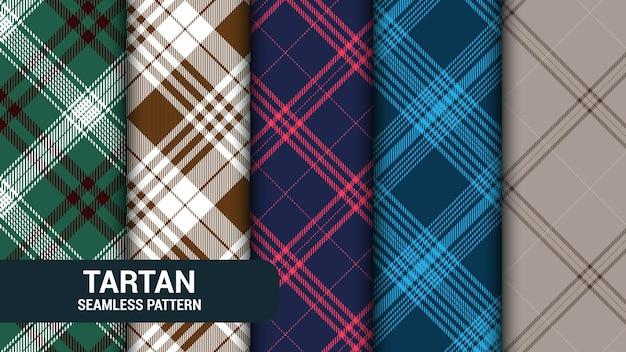 Pack de motifs sans couture tartan