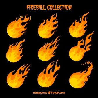 Pack de neuf boules de feu
