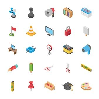 Pack d'objets isométrique