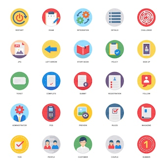 Pack of finance flat icons