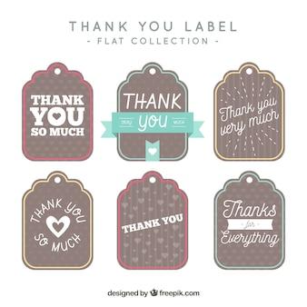 Pack of vintage merci tags