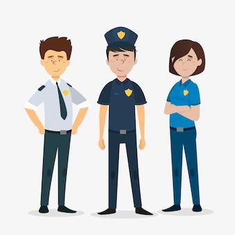 Pack d'officiers de police