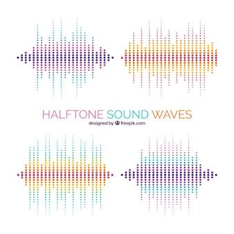 Pack d'ondes sonores en demi-teintes