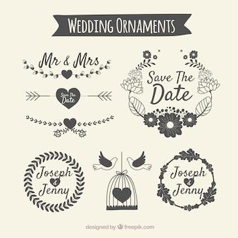 Pack d'ornement de mariage