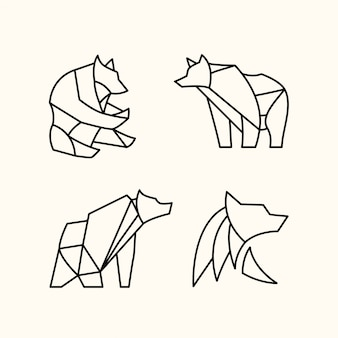 Pack d'ours polygonal