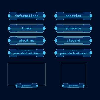 Pack de panneaux de flux twitch
