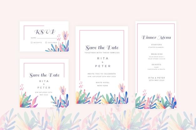 Pack de papeterie de mariage floral