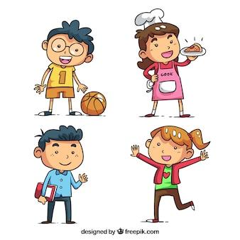 Pack de personnage pour enfants