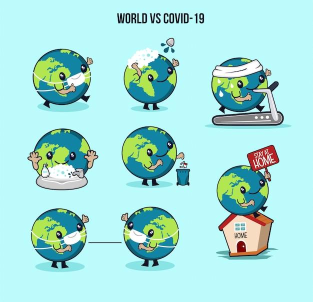 Pack de personnages corona world