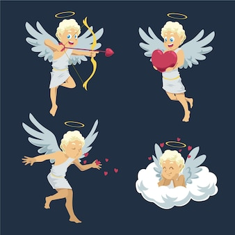 Pack de personnages de dessin animé cupidon