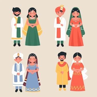 Pack de personnages de mariage indien