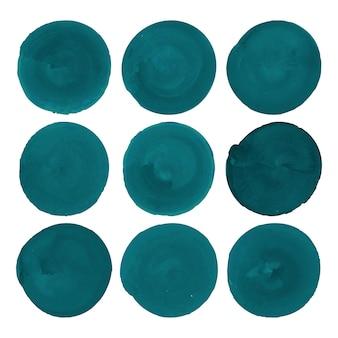 Pack de pinceaux aquarelle cercle