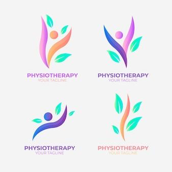 Pack plat de logo de physiothérapie