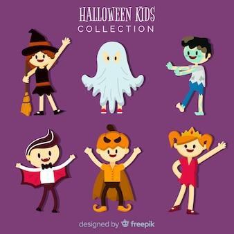 Pack plat de personnages halloween pour enfants
