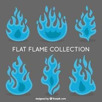 Pack plat de six flammes bleues