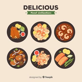 Pack de plats délicieux