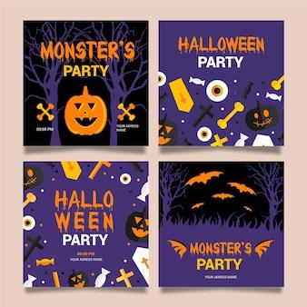 Pack de post instagram halloween