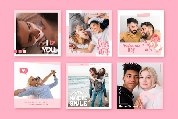 Pack post instagram pour la saint-valentin