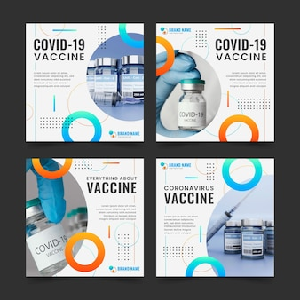 Pack de post instagram de vaccins avec photos
