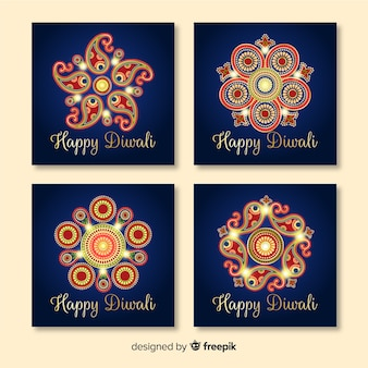 Pack de post de vacances instagram diwali