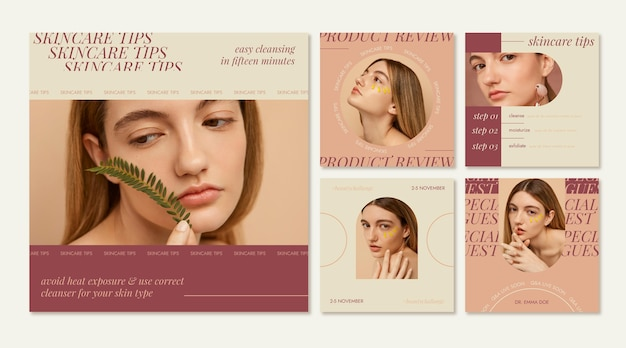 Pack de publication instagram beauté plate